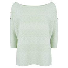 Buy Mint Velvet Space Dye Hem Jumper, Green Online at johnlewis.com