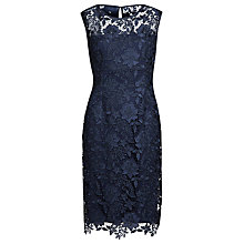 Buy Gina Bacconi Swirl Flower Guipure Dress, Spring Navy Online at johnlewis.com