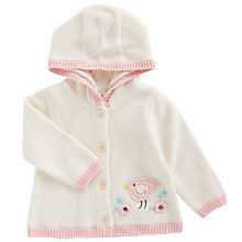 Buy John Lewis Baby's Bird Apple Cardigan, Cream Online at johnlewis.com