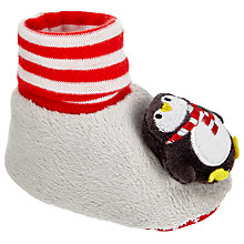 Buy John Lewis Baby Christmas Penguin Socktop, Grey Online at johnlewis.com