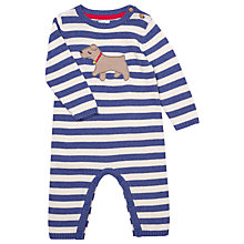 Buy John Lewis Baby's Dog Playsuit, Blue Online at johnlewis.com