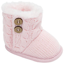 Buy John Lewis Baby Cable Boots Online at johnlewis.com