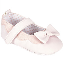 Buy John Lewis Baby Glitter Bow Shoes, Pink Online at johnlewis.com