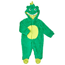 Buy John Lewis Baby Novelty Dress Up Dinosaur Outfit, Green Online at johnlewis.com