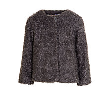 Buy John Lewis Girls' Faux Fur Coat, Grey Online at johnlewis.com