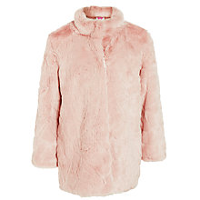 Buy John Lewis Girls' Faux Fur Coat, Pink Online at johnlewis.com