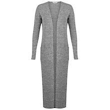 Buy Miss Selfridge Maxi Cardigan, Mid Grey Online at johnlewis.com