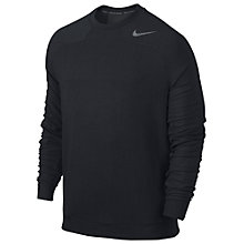 Buy Nike Dri-FIT Touch Fleece Sweatshirt, Black Online at johnlewis.com