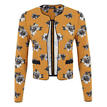 Buy Miss Selfridge Ochre Floral Jacket, Dark Yellow Online at johnlewis.com