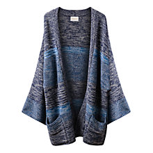 Buy East Tweed Kimono Coatigan, Indigo Online at johnlewis.com