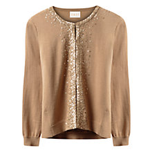 Buy East Silk Lined Sequin Cardigan, Gold Online at johnlewis.com