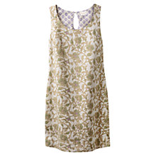 Buy East Victoire Rosetti Linen Dress, Ivory Online at johnlewis.com