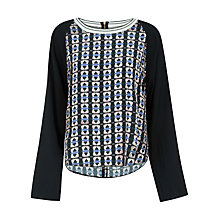 Buy Closet Tribal Long Sleeve Top, Multi Online at johnlewis.com