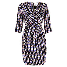 Buy Closet Tribal Wrap Dress, Purple Online at johnlewis.com