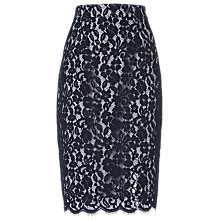 Buy L.K. Bennett Wardour Lace Skirt, Sloan Blue Online at johnlewis.com