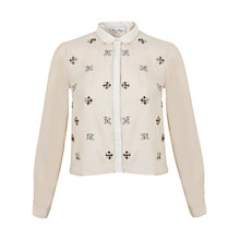Buy Miss Selfridge Jewel Cluster Shirt, Cream Online at johnlewis.com