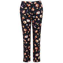Buy Miss Selfridge Floral Print Cigarette Trousers, Multi Online at johnlewis.com