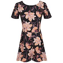 Buy Miss Selfridge Floral Print Playsuit, Black/Multi Online at johnlewis.com