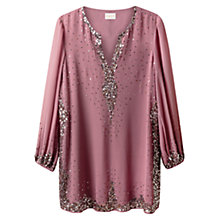 Buy East Sequin Border Tunic Dress, Rose Online at johnlewis.com
