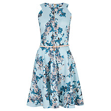 Buy Closet Floral Keyhole Dress, Pale Blue Online at johnlewis.com