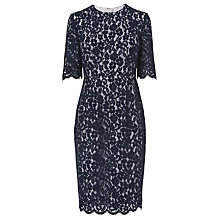 Buy L.K. Bennett Wardour Lace Overlay Dress, Sloane Blue Online at johnlewis.com