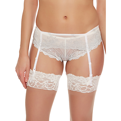 Wacoal Embrace Lace Suspender, White / Lurex