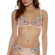 Buy Wacoal Dahlia Triangle Underwired Bra, Blush Online at johnlewis.com