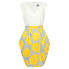 Buy Closet Floral V-Neck Tulip Dress, Yellow Online at johnlewis.com