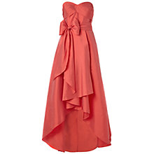 Buy Adrianna Papell Strapless Taffeta Ball Gown, Coral Online at johnlewis.com