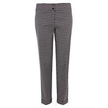 Buy Karen Millen Tailored Jacquard Trousers, Black Online at johnlewis.com