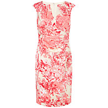 Buy Adrianna Papell Pleated Wrap Dress, Pink/Multi Online at johnlewis.com