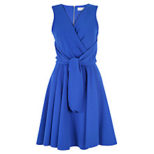 Buy Closet Tie Front Skater Dress, Royal Blue Online at johnlewis.com