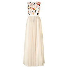 Buy Needle & Thread Floral Maxi Dress, Chalk Online at johnlewis.com