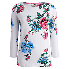 Buy Joules Printed Jersey Top, Bright White Floral Online at johnlewis.com
