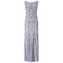 Buy Adrianna Papell Cap Sleeve Beaded Gown, Silver/Grey Online at johnlewis.com