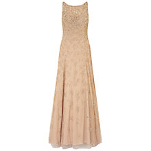 Buy Aidan Mattox Beaded V-Back Gown, Nude Online at johnlewis.com
