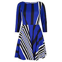 Buy Closet Stripe Skater Dress, Multi Online at johnlewis.com