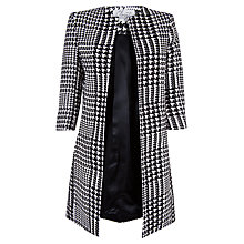 Buy Closet Houndstooth Collarless Jacket, Black/White Online at johnlewis.com