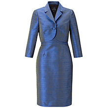 Buy Adrianna Papell Dress With Jacket, Sapphire/Black Online at johnlewis.com