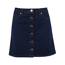 Buy Miss Selfridge Button Through Skirt, Indigo Online at johnlewis.com