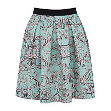 Buy Closet Box Pleat Skater Skirt, Green Online at johnlewis.com