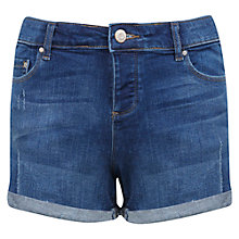 Buy Miss Selfridge Denim Boyfriend Shorts, Mid Wash Online at johnlewis.com