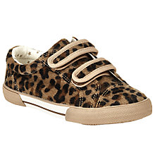 Buy John Lewis Ellie Animal Print Rip-Tape Shoes, Brown/Black Online at johnlewis.com