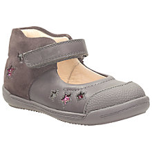 Buy Clarks First Softly Zoe Suede Shoes, Brown/Pink Online at johnlewis.com