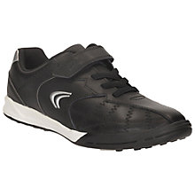 Buy Clarks Swerve Max Leather Trainers, Black Online at johnlewis.com