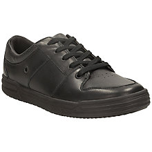 Buy Clarks Max Spring Harlem Laced School Shoes, Black Online at johnlewis.com