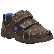 Buy Clarks First Flash Pop Brown Shoes, Brown/Blue Online at johnlewis.com