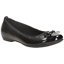 Buy Clarks Tizz Hope Slip On Shoe, Black Patent Online at johnlewis.com
