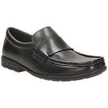 Buy Clarks Corris Step Loafer Shoe, Black Online at johnlewis.com