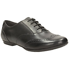 Buy Clarks Tizz Honey Modern Toe Brogue Shoes, Black Online at johnlewis.com